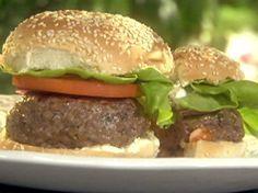 Lamb Burgers with Feta Spread