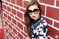 Thirstythought: DESIGNER INSPIRED ROUND CIRCLE HALF TINTED LENS SUNGLASSES 8511