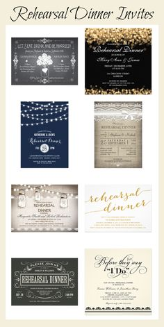 Modern and Classic Rehearsal Dinner Invitations for all types of weddings. Create your own unique Wedding Rehearsal Dinner Invitations with these easy to use Wedding Invitations Online, Personalised Wedding Invitations, Rehearsal Dinner Invitations, Wedding Rehearsal, Wedding Invitation Templates, Rehearsal Dinners, Invites, Country Wedding Cakes, Questions