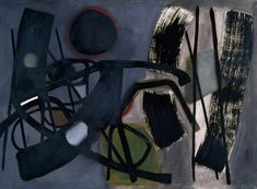 Fritz Winter, Earthbound, 1952. Oil on canvas, 37 1/2 x 51 1/2 inches (95.3 x 130.8 cm)
