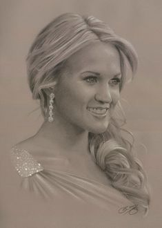 Carrie Underwood Portrait by Brian Duey on ARTwanted