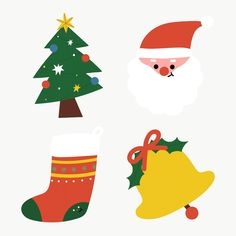 Christmas Icons, Merry Christmas Card, Christmas Stickers, Christmas Design, Christmas And New Year, Christmas 2019, Xmas, Hand Sticker, Tree Icon