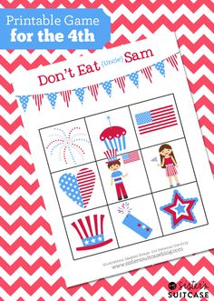 July 4th Printable Game patriotic july 4 july fourth activities for kids july 4 crafts july 4th crafts july fourth crafts july 4 party ideas july 4th activities