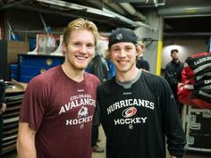 Let's all take a second and reflect upon how good looking Swedish hockey players are - Gabriel Landeskog, Elias Lindholm