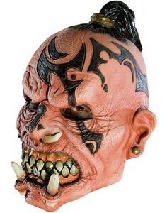 Adult Monster Orc Headhunter 3/4 Vinyl Costume Mask