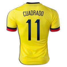 21f69a8bd Juan Guillermo Cuadrado 11 2015 Copa America Colombia Home Soccer Jersey  Colombian Flag