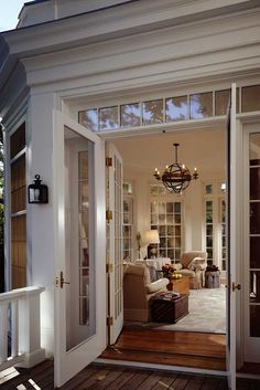 Door Surround...stunning! (*tip: Urethane millwork is impervious to the elements)   John B. Murray Architect: