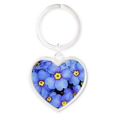 Blue Wildflowers Keychains,http://www.cafepress.com/costasonlineshop