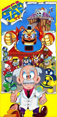 Nintendo NES Ad - Mega Man II Poster (Nintendo Power 1989)
