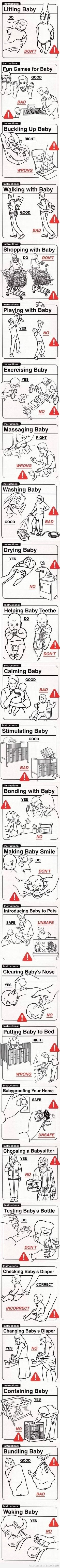 Haha! The do's and don'ts of parenting.