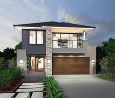 A House Ideas Country Photo Galleries Printing Videos Projects Posts Code: 7645598695 Minimal House Design, Modern Small House Design, Modern House Plans, Dream House Exterior, Exterior House Colors, 2 Storey House Design, Storey Homes, Modern Architecture House, Facade Design