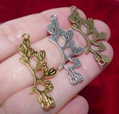48*40*7mm Antiqued Bronze Alloy Bird In Tree Branch Pendants Charms Jewelry 8PCS