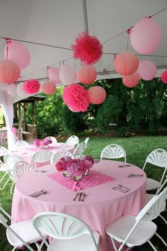 Pretty in Pink Party! Birthday Bash, First Birthday Parties, Girl Birthday, First Birthdays, Birthday Ideas, Pink Parties, Grad Parties, Holiday Parties, Baby Shower Themes