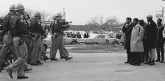 On March 7, 1965, 600 civil rights protesters attempted a march from Selma to Montgomery, Alabama, the state capital, to draw attention to the voting rights issue. Led by Hosea Williams of SCLC and John Lewis of SNCC, the marchers encountered Alabama state troopers and local police officers who gave them a two-minute warning to stop and turn back. When the protesters refused, the officers tear-gassed and beat them. Over 50 people were hospitalized. National Archives Identifier 16899041