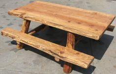 Log picnic table plans for the home pinterest picnic tables picnic tables for sale cedar log construction 7x5x28 watchthetrailerfo