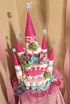 Castle Diaper Cake :)
