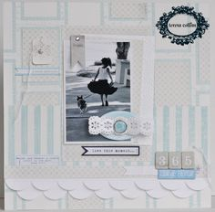 TERESA COLLINS DESIGN TEAM: A Sweet Afternoon layout by Suzanne Sergi
