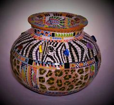 African Mosaic Vase