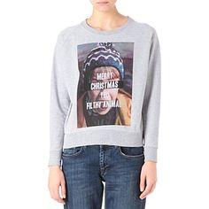 ELEVEN PARIS Home Alone Christmas sweatshirt (Light grey