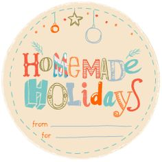 Homemade Holidays Printable Gift Card - Free to download #gifttags