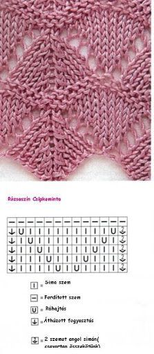 Most recent Cost-Free knitting techniques lace Suggestions Strickmuster mit Strickschrift Lace Knitting Patterns, Knitting Stiches, Knitting Charts, Lace Patterns, Loom Knitting, Knitting Designs, Crochet Stitches, Stitch Patterns, Knitting Projects