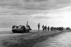 Bluebird, the 5,000 horsepower car in which Donald Campbell hopes to ...
