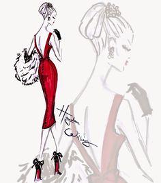 #Hayden Williams Fashion Illustrations: #'Ravishing Rouge' by Hayden Williams