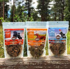 Dog Treat Variety Pack: The Sampler Pack features:  The Prima Dogna - 9oz Salmon + Pearled Barley + Carrots & Cranberries  The Sportsdog - 9oz. Beef + Organic Quinoa + Carrots & Cranberries  The Survivor - 9oz. Chicken + Rolled Oats + Green Beans & Organic Blueberries