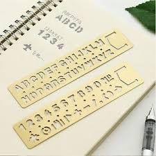 Vintage Stationery Number//Letter Hollow Ruler Drawing Template DIY Bookmark