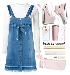 """Back to School ✏️"" by mimimars303 ❤ liked on Polyvore featuring Rosetta Getty, Steve J & Yoni P, Corkcicle, Madewell, Corinne McCormack, Casetify, Obsessive Compulsive Cosmetics and Christian Dior"