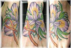 ... com img src http www tattoostime com images 449 ribbon and iris