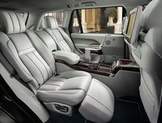 Land Rover: The rear passenger seats come with a little foot rest for ultimate relaxation. They also recline and can give you a massage!
