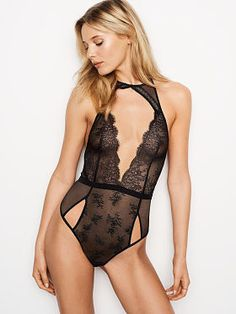 Cutout Chantilly Lace Plunge Teddy Street Chic 1a904af42