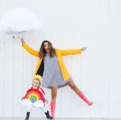 cloud-rainbow halloween costume for pregnant moms halloween craftivity