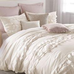 DKNY Flirt Duvet Cover in Off-White - BedBathandBeyond.com bed bath and beyond $120