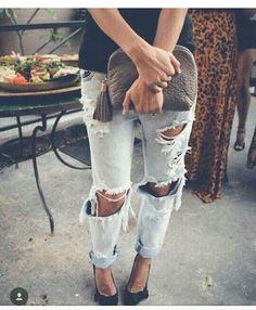 Jeans destroid.#Showmenina