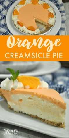 Pie recipes 34480753386060795 - Orange Creamsicle Pie Recipe – Over 40 of the BEST Pie Recipes! Source by karond Easy Pie Recipes, Cream Pie Recipes, Baking Recipes, Orange Cream Pie Recipe, Yummy Recipes, Yogurt Recipes, Apple Recipes, Sweet Desserts, Gastronomia
