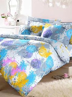 This set is an artist�s palette of Holi colours�young, vibrant, creative and eye-catching. Your bedsheet set can become a statement that defines a look for your room. The colours and the pattern combine a bold idea executed with style and taste. Our products are made of the finest quality of fabric. This 100% cotton bedsheet will give you comfort and luxury that only our trusted brand can offer. Info Holi Colors, Colours, Bed Sheets, Comforters, Pillow Covers, Vibrant, Palette, Blanket, Pillows