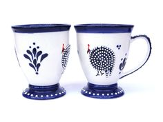 Guinea Fowl African Mug Just In Time For Christmas!  #cobalt #blue #guineafowl #southafrica #capetown #import #mug #coffee #tea