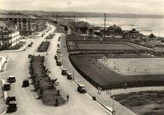 Old photo of Marine Parade, Durban Margate South Africa, Durban South Africa, Old Pictures, Old Photos, Kwazulu Natal, Sun City, Historical Society, Beach Fun, Historical Photos