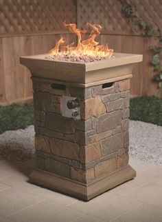 This fire pillar would be an awesome addition to any patio. #shopko