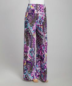 Loving this Purple Tribal Palazzo Pants on #zulily! #zulilyfinds