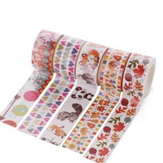 1 PCS 21 Style 20mm*5m Decorative Color Can Be Tear-Free Trace Boxed Cartoon Stationery Washi Paper Masking Tape School Supplies