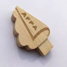 Eco-friendly Wood Tree Shape USB 2.0 flash Drive with Custom Logo Printing for Promotional Gifts Wooden USB Sticks#crystalusbcases #cocacolausb #computers #usbstick