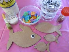 Learn with Play @ home: Create an Underwater Scene. PART 1. The Fish