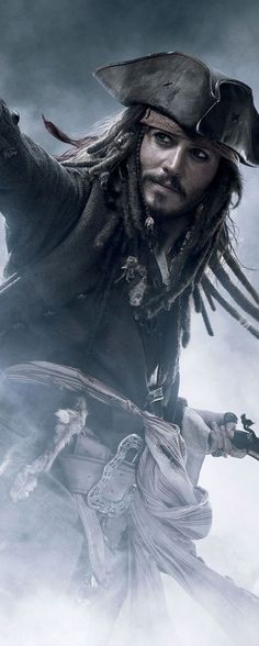 Capt. Jack Sparrow Those tricorne hats and late 17th century coats are great Plus, he is one good looking man