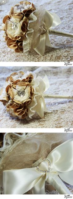 Honey and Champagne  wedding bouquet