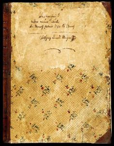 Mozart's Diary, the composer's own notes, from 1784 until his death.