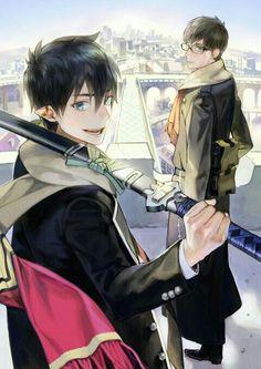 Blue Exorcist (Ao no Exorcist) - Rin Okumura x Yukio Okumura Ao No Exorcist, Blue Exorcist Anime, Manga Anime, Fanarts Anime, Manga Art, Anime Characters, Anime Eyes, Rin Okumura, Mephisto
