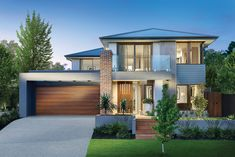 Lonsdale facade on the Hoffman displayed in Timbertop estate, Officer. Single Storey House Plans, Porter Davis, Landscape Architecture Drawing, Facade House, House Facades, Storey Homes, Facade Design, New Home Designs, House Goals